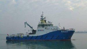 中海油服海洋石油771物探作业支持船